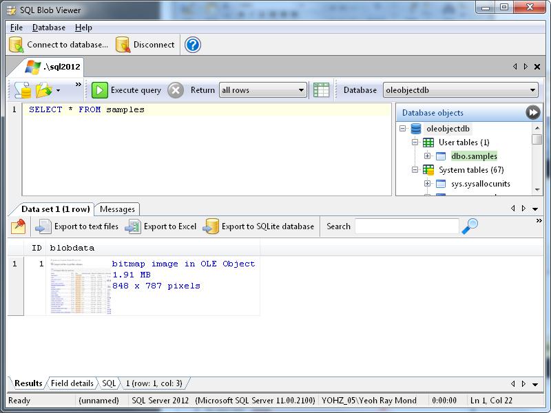 SQL Blob Viewer Archives - Yohz Software Development Blog