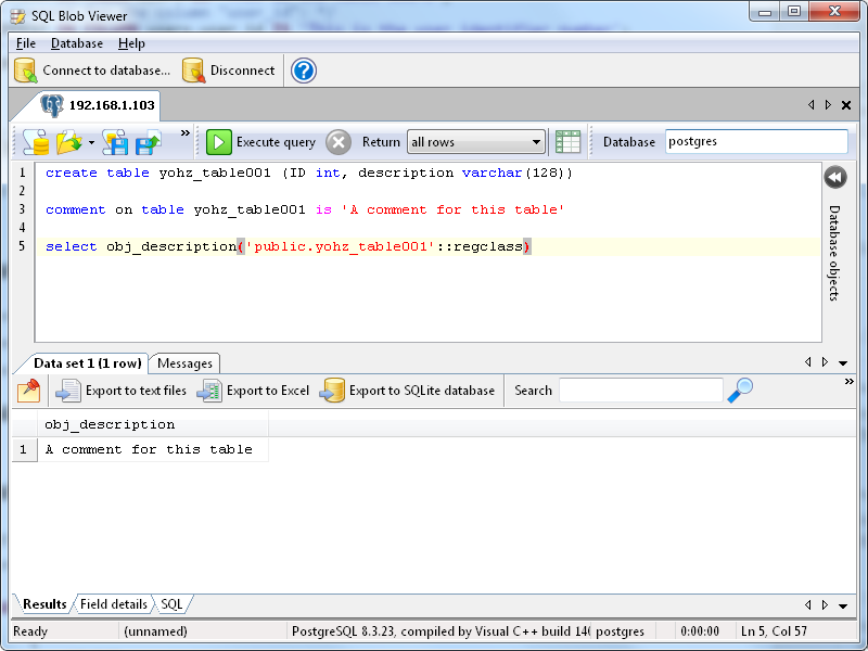 Documenting your PostgreSQL database - Yohz Software