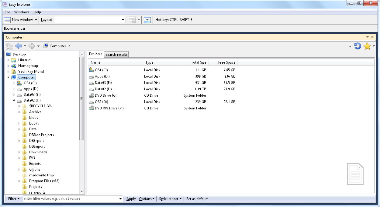 Using Easy Explorer - Yohz Software Development Blog