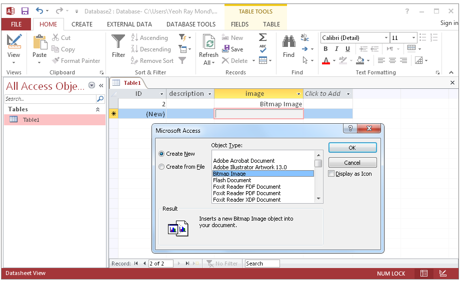 Exporting and extracting images and files from Microsoft Access