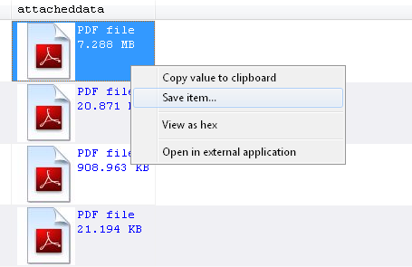 SQL Blob Viewer - How to export PDF files