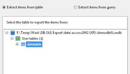 Access OLE Export - Details