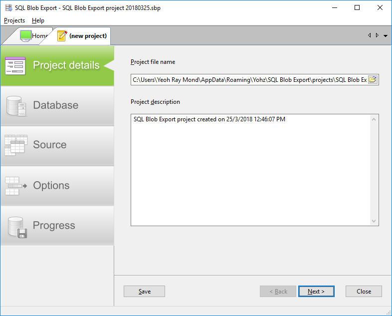 SQL Blob Export - Details