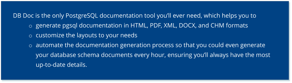DB Doc - Details
